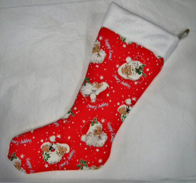 Beautiful handcrafted fabric lined Christmas Stockings various patterns