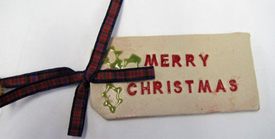 Various beautiful handcrafted ceramic parcel tag Christmas tree decorations