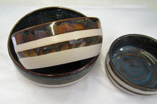 Handcrafted Set of 3 ceramic rustic bowls