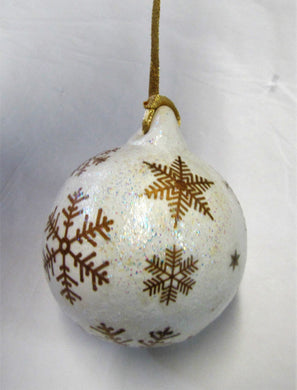 Beautiful hand painted ceramic bauble Christmas tree decorations