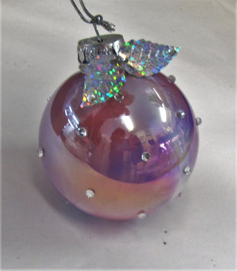 Various beautiful handcrafted glitter bauble Christmas tree decorations