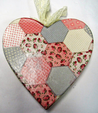 Beautiful handcrafted patchwork heart