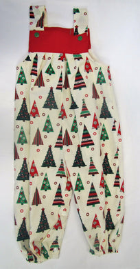 Handcrafted Christmas Tree romper suit fully lined Various sizes