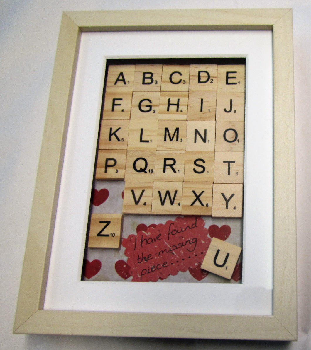 Handcrafted scrabble picture