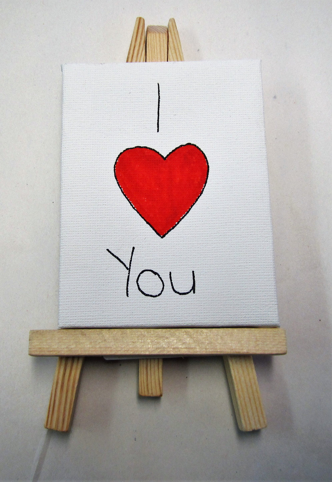 Handcrafted Love canvases verity of words with easels