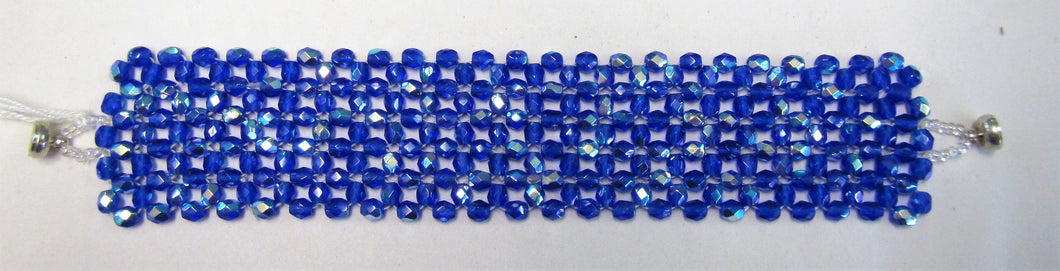 Beaded bracelet - Beautiful handmade with blue beads