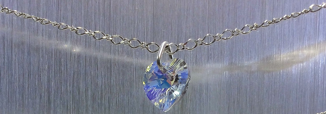Swarovski Crystal Heart Sterling Silver Necklace