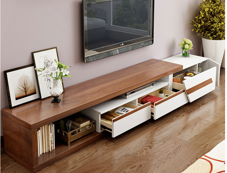 Coffee Table Extendable.High Gloss Wooden Grain Extendable Tv Unit Or Multi Space Coffee Table