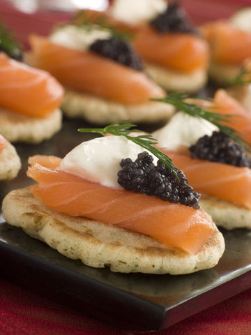 Smoked Salmon Canapes with Caviar Recipe