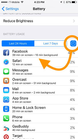 iOS Battery Life Screen
