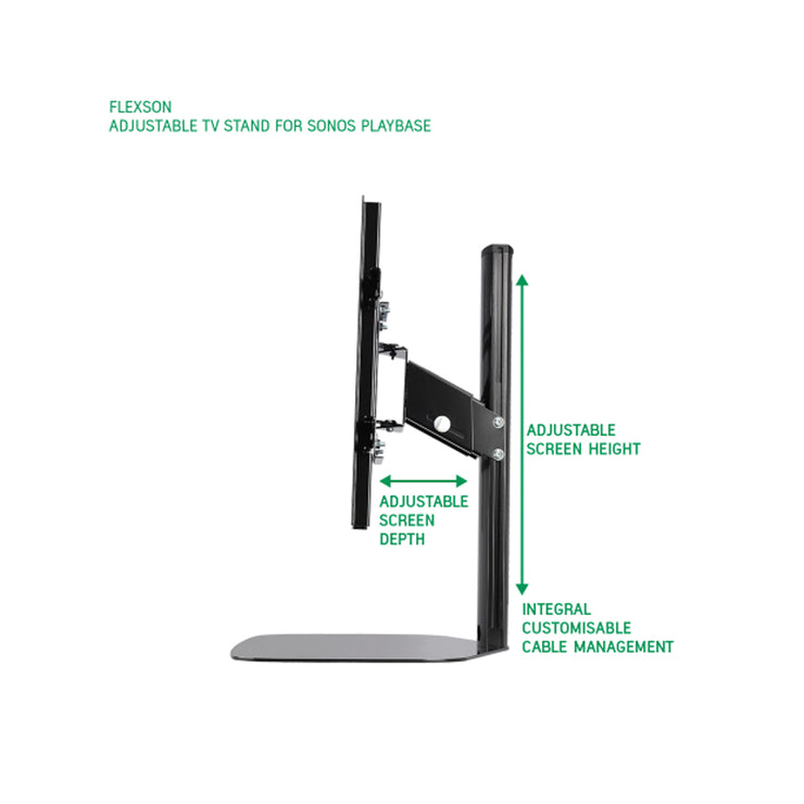 Flexson adjustable tv stand for sonos playbase - Audio Influence Australia 6