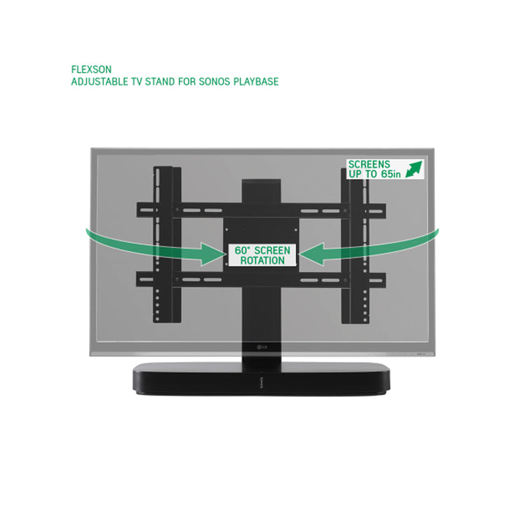 Flexson adjustable tv stand for sonos playbase - Audio Influence Australia 5