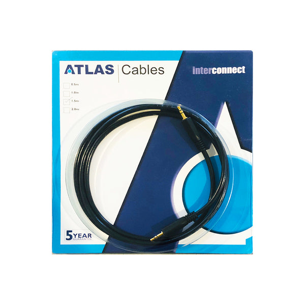 Stereo Interconnect Cable with 3.5mm to 3.5mm Phono plugs From ATLAS CABLES