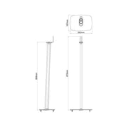Flexson floor stand for sonos play  pair - Audio Influence Australia 5