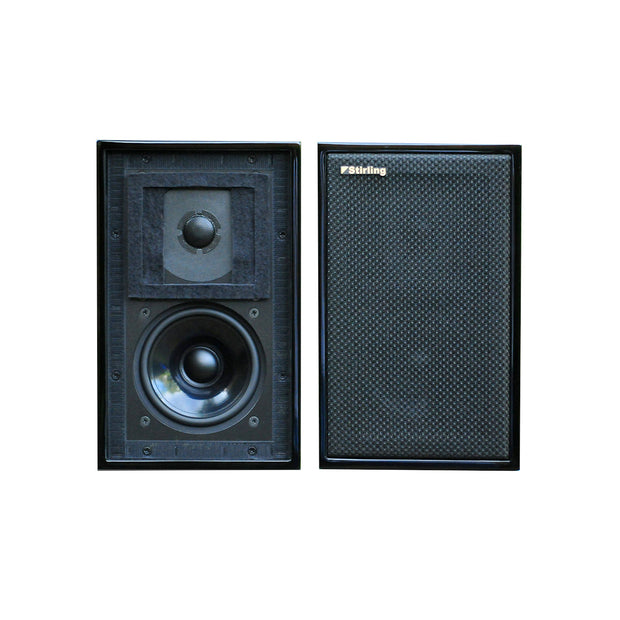 Stirling Broadcast LS3/5 V3 Bookshelf Audio Speakers In Black Ash Without Grill