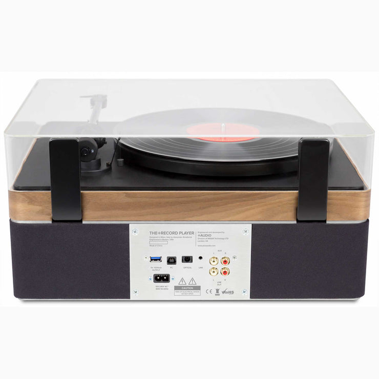 The+Record Player Music System in Walnut From PLUS AUDIO - Rear Panel