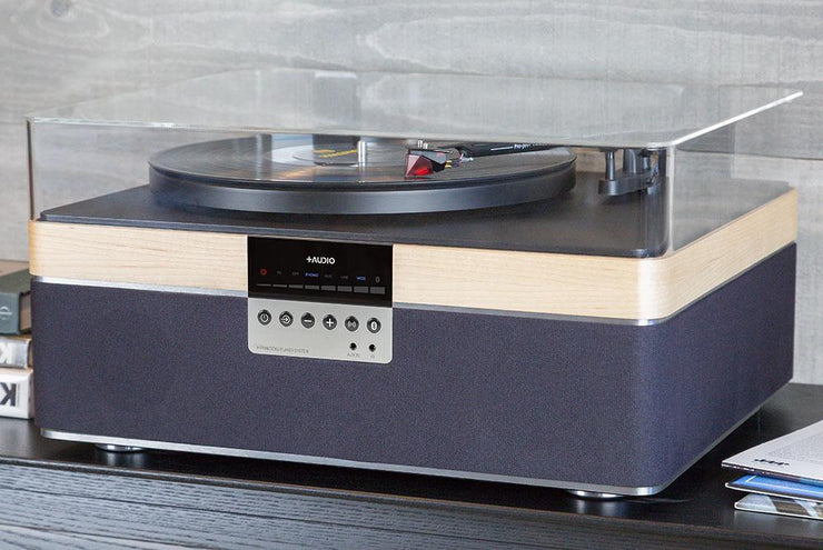 The+Record Player Special Edition in Maple From PLUS AUDIO - Closer Side View