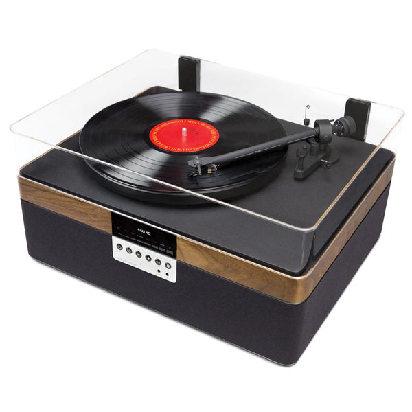 The+Record Player Music System in Walnut From PLUS AUDIO - Top View