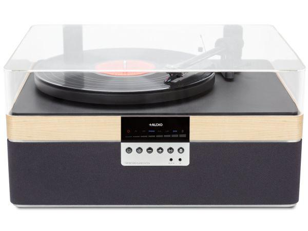 The+Record Player Music System in Maple From PLUS AUDIO