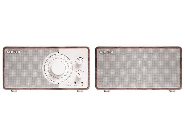 The+Radio Stereo AM/FM BT Bluetooth Radio From PLUS AUDIO in Cherry/White