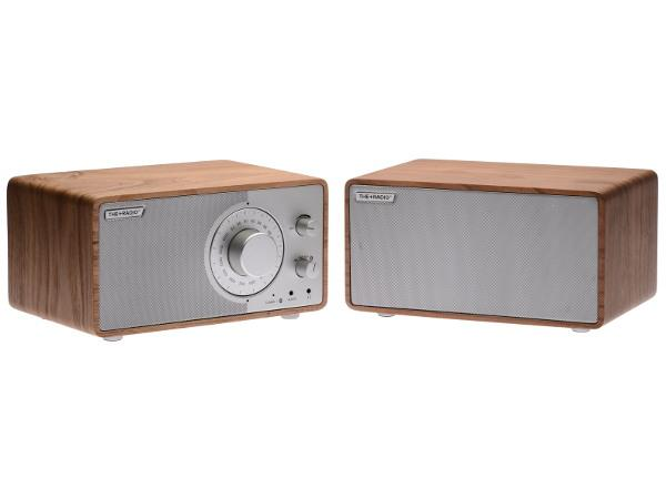 The Plus Radio Stereo AM/FM BT Oak/Silver - Audio Influence