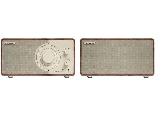 The+Radio Stereo AM/FM BT Bluetooth Radio From PLUS AUDIO in Walnut/Beige