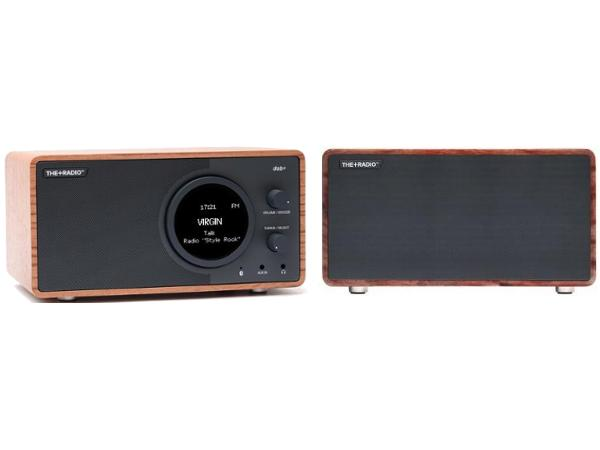 The+Radio Stereo DAB+ BT Bluetooth Digital Radio From PLUS AUDIO in Rosewood/Anthracite