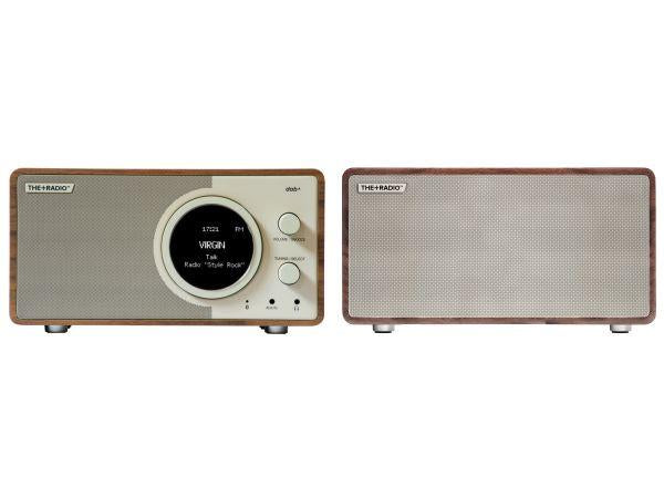 The+Radio Stereo DAB+ BT Bluetooth Digital Radio From PLUS AUDIO in Walnut/Beige