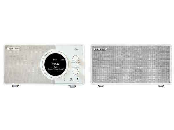 The+Radio Stereo DAB+ BT Bluetooth Digital Radio From PLUS AUDIO in Matt White