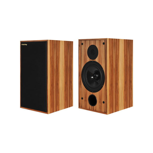 Stirling Broadcast SB88 Audiophile Bookshelf Speakers In Zebrano