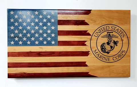 Custom Laser Engraved American Flag
