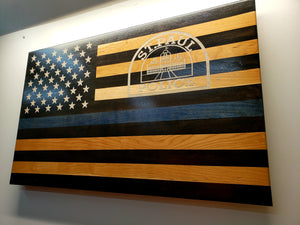 "Custom Laser Engraved Thin Blue Line - ""The Protector"""