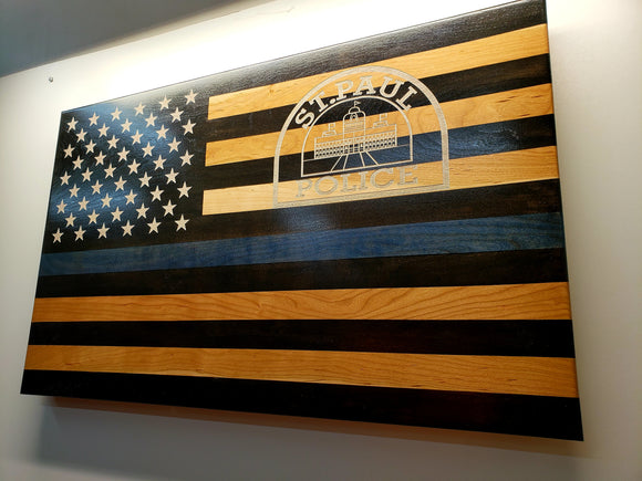 Custom Laser Engraved Thin Blue Line -