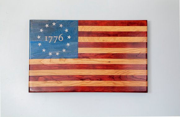 Engraved Betsy Ross Flag