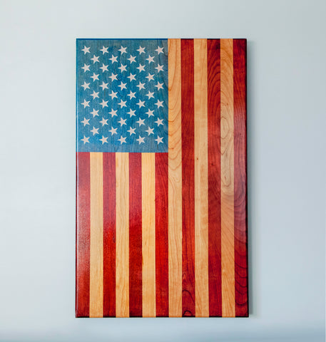 "Vertical American Flag - ""The Patriot"""