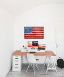American Flag wall art in office