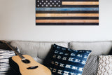 thin blue line flag in living room