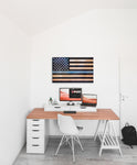 thin blue line flag in office