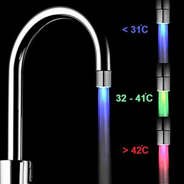 Temperature Sensor LED Light Tap Head (FREE) Just Pay Shipping - Doodaddz