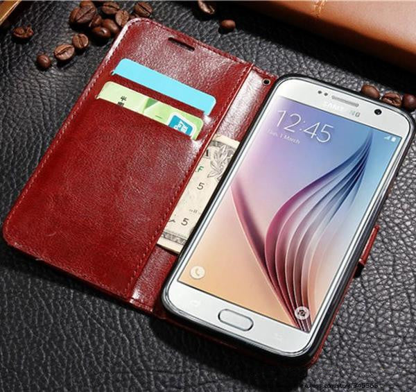 Flip Wallet Card Holder Case for Samsung Galaxy Phones - Doodaddz