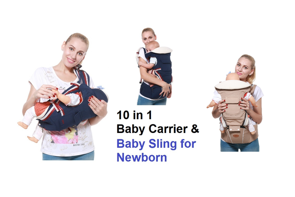 10 in 1 All Seasons Convertible Baby Carrier and Baby Sling with Hip seat