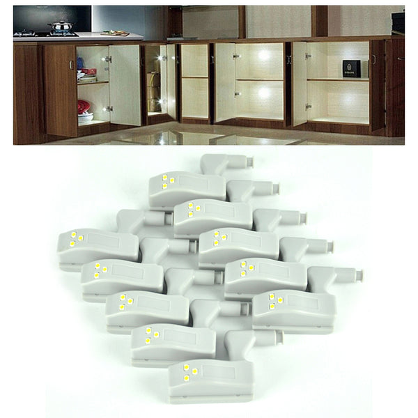 10pcs Universal Cabinet Cupboard White LED Light - Doodaddz