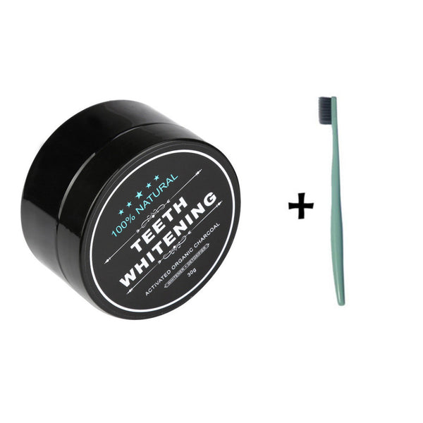 Activated Charcoal Powder + Activated Charcoal Toothbrush