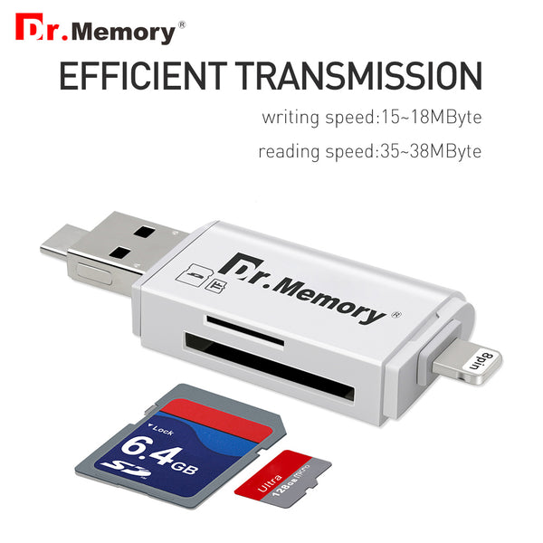 External storage Memory card reader for Apple iPhones