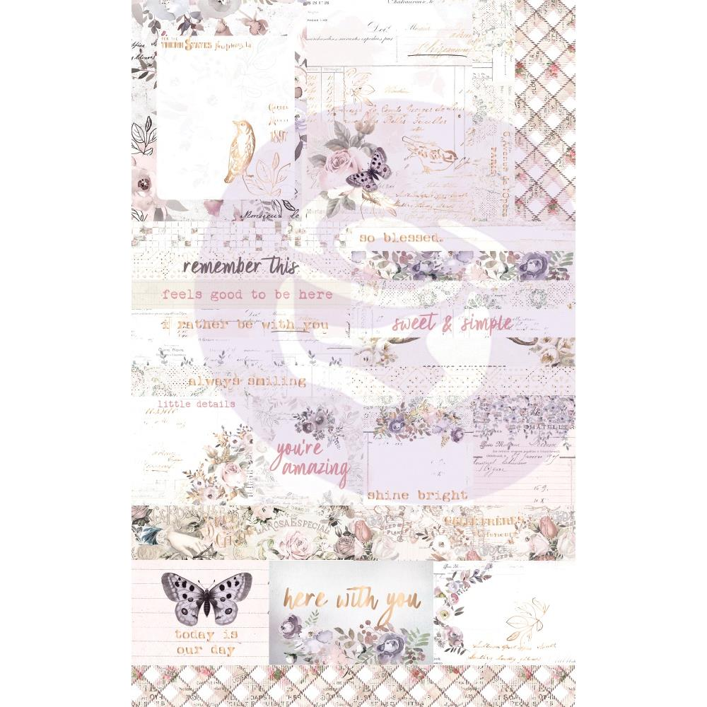 New Prima Ephemera 41pieces - Lavender Frost 634346
