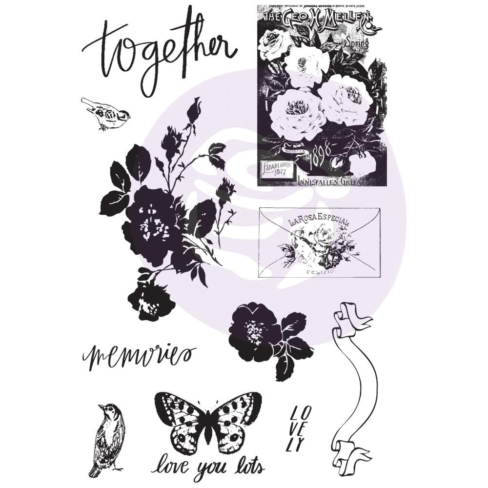 NEW My Prima Planner Cling Stamp and stencil set - Lavender Frost