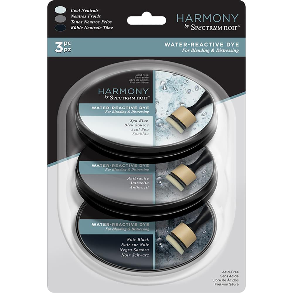 Spectrum Noir Harmony Water Reactive Ink Pads 3/Pkg - Cool Neutrals