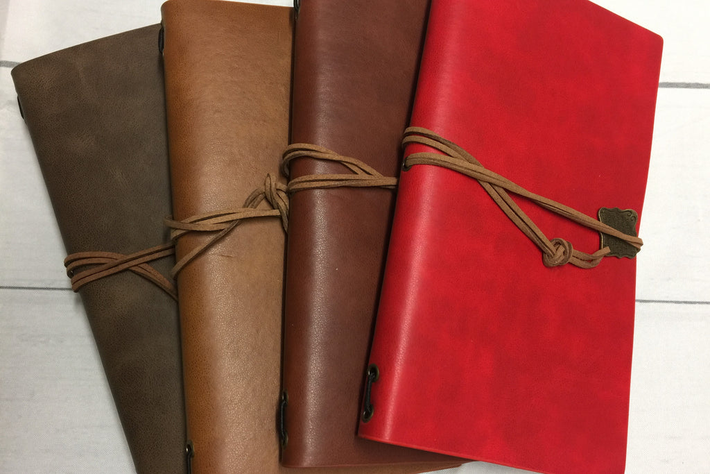 Standard Size Vintage Leather Travelers Notebook
