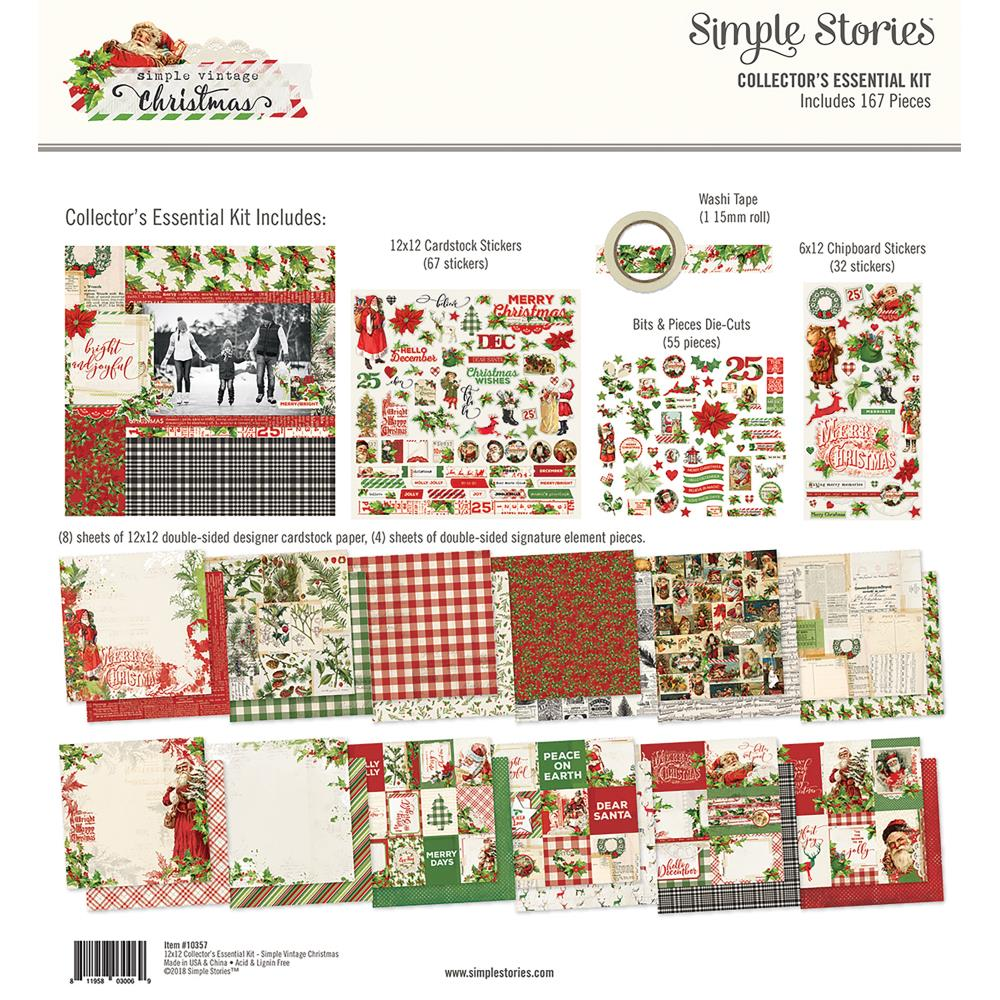 New Simple Stories Christmas Collectors Essential Kit - Simple Vintage Christmas