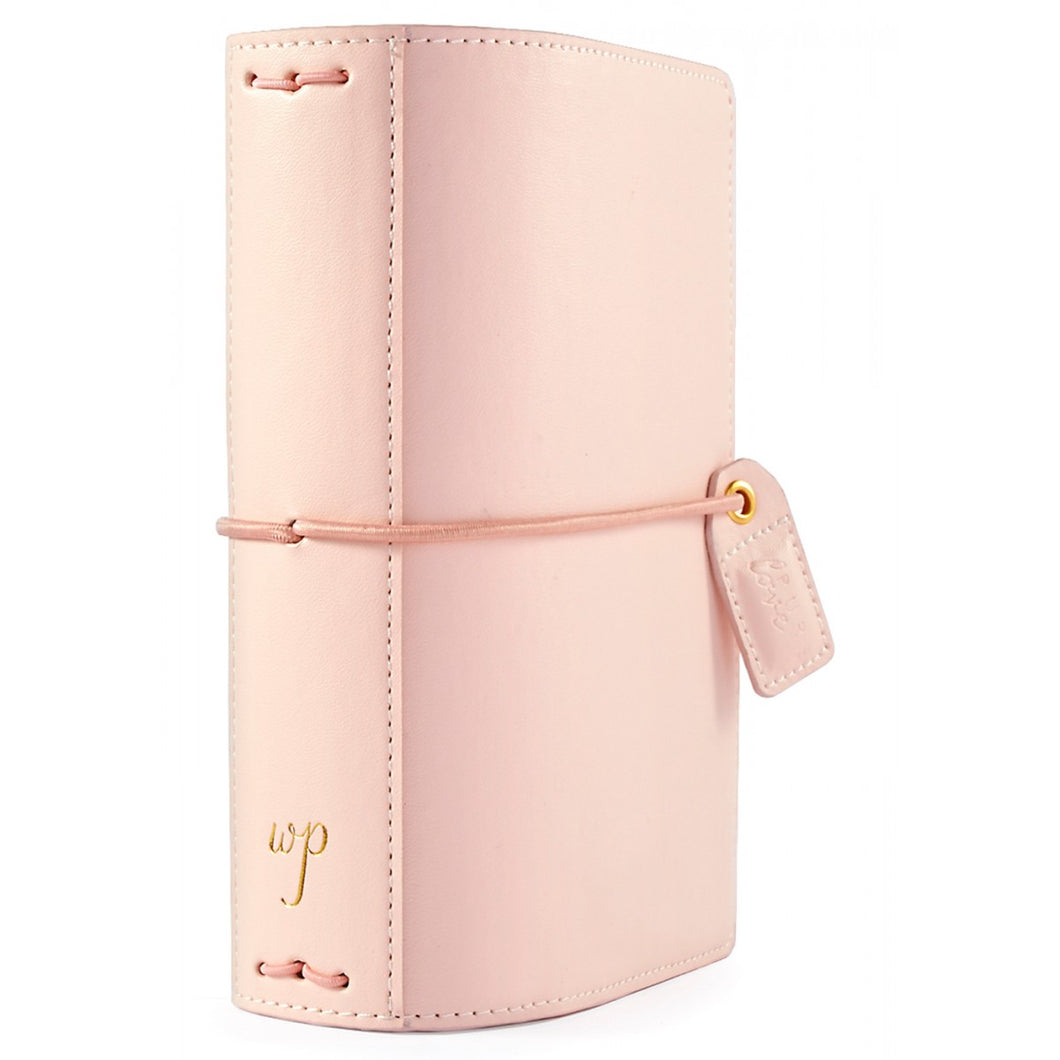 New 2018 Webster's Pages Colour Crush Pocket Size Travelers Notebook - Blush Pin